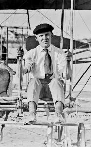 'Boy Aviator' Farnum T. Fish at Hampton Beach, Septermber 1916. J. Frank Walker photo, Hampton Historical Society.