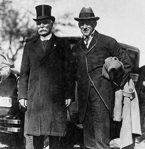 Ira Jones (left) and NH Sec of State Hobart Pillsbury, October 14, 1925, Memorial Park dedication.