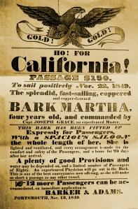 Broadside for the Martha, Hampton Historical Society.