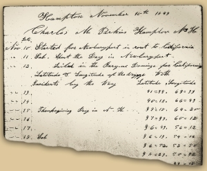 Exceprt from Charles Perkins's Journal. NH Historical Society.