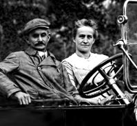 Howard and Sarah Hobbs Lane, c.1920 Cadillac convertible.