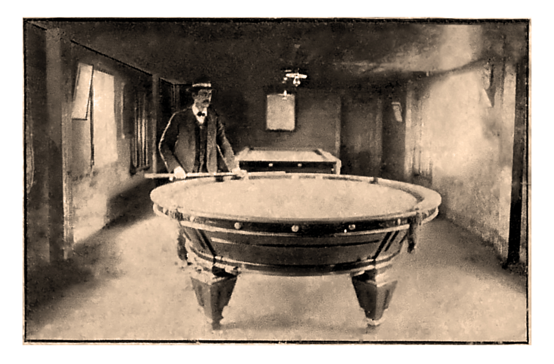 The Franklin Hotel Round Pool Table