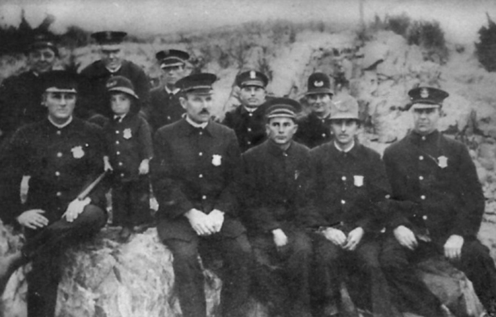 Early Hampton police force