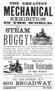 1869 Roper Steam Buggy & Velocipede