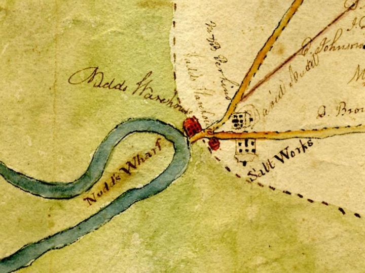 1830 Hampton map.